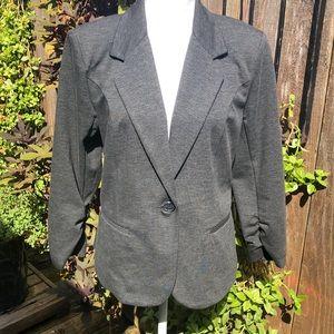 Christian Siriana Gray Career Jacket Size M D134